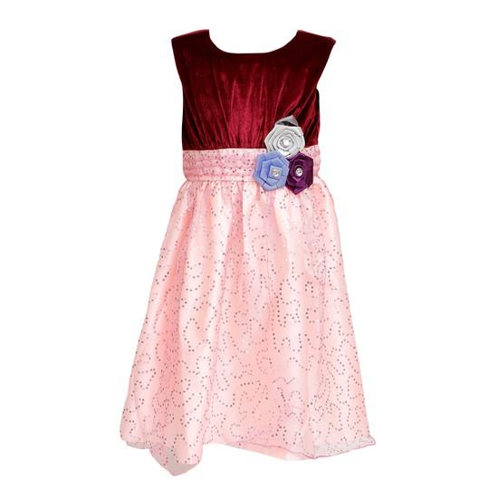 Váy nhung phối kim sa cực đáng yêu cho bé gái