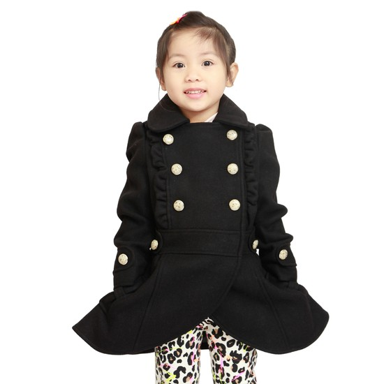 Áo dạ 2 lớp cho bé gái