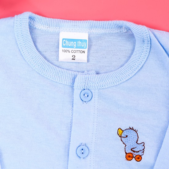 Combo 4 áo sơ sinh cotton dài tay cho bé size 2,3