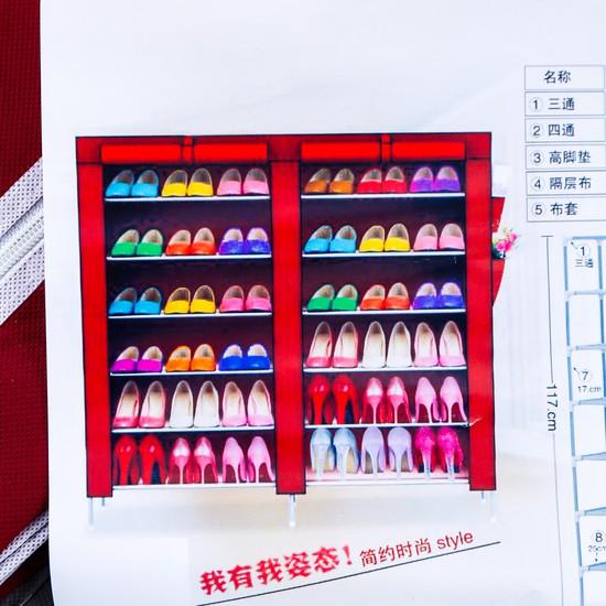 Tủ giầy bọc vải 6 tầng 12 ngăn tiện ích