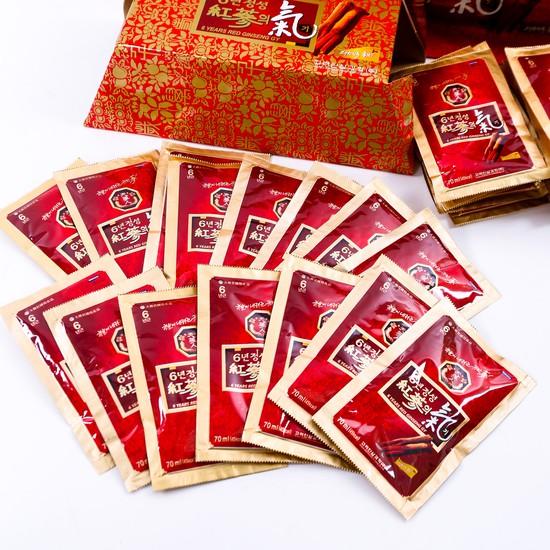 Hộp 30 gói tính chất hồng sâm 6 năm tuổi Hàn Quốc