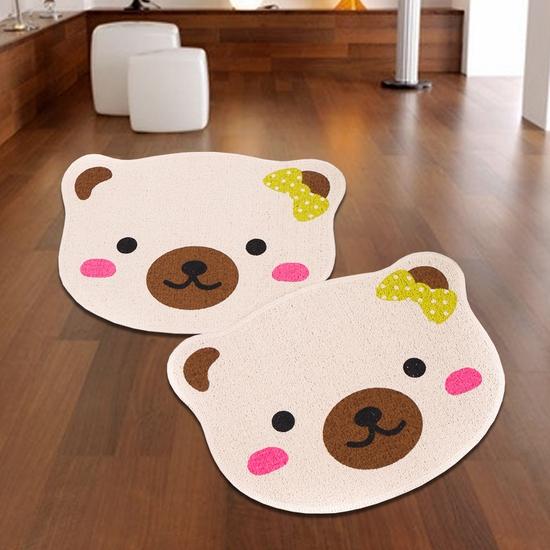 Combo 2 thảm lau chân Carmi hình gấu xinh xắn