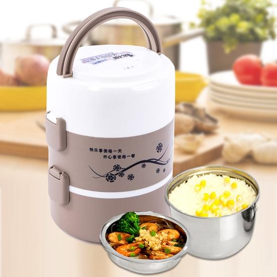 Hộp cơm cắm điện lòng inox 3 ngăn tiện ích