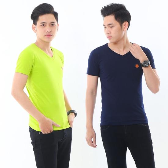2 áo phông nam nhiều màu chất cotton thoáng mát