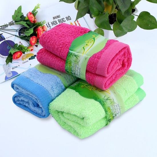 Combo 3 khăn mặt sợi tre thiên nhiên Mpro