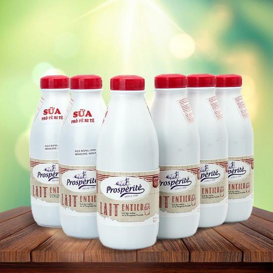 6 hộp sữa tiệt trùng nguyên kem Prosperite - Pháp