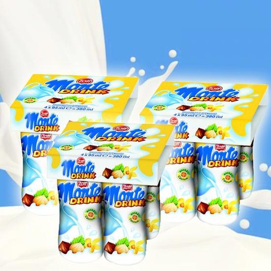 Combo 03 lốc váng sữa đóng chai Monte Drink - Nhập khẩu từ CHLB Đức - Chỉ 108.000đ/03 lốc/12 chai
