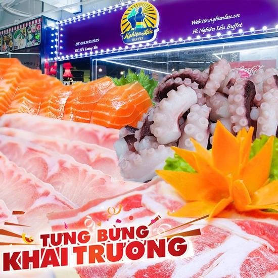Buffet lẩu- NH Nghiện Lẩu cơ sở mới số 1 Lương Yên