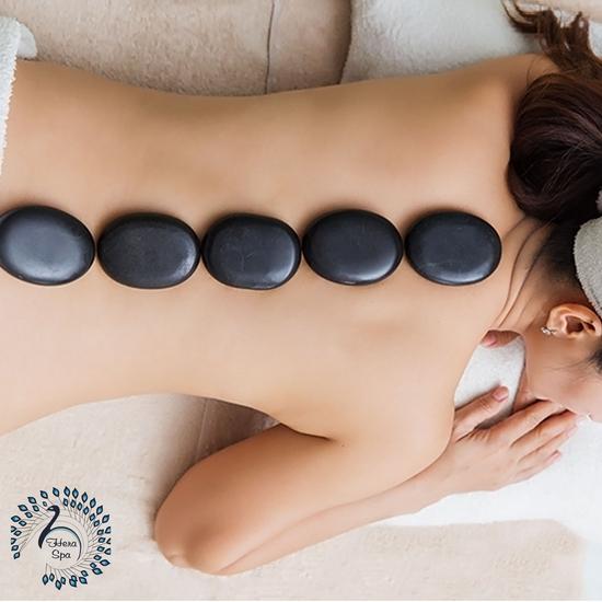 Massage body đá nóng trị liệu thư giãn giảm stress