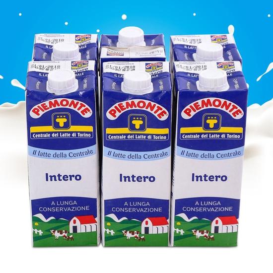 6 hộp sữa nguyên kem Piemonte nhập khẩu Ý loại 1L