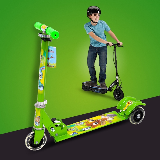 Xe trượt scooter 3 bánh phát sáng cá tính