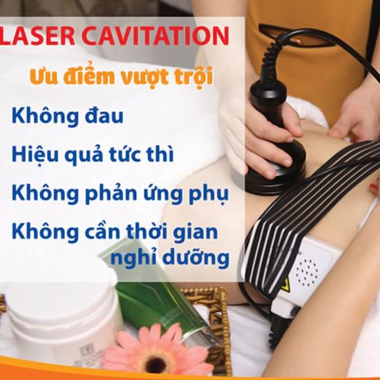 3 buổi giảm béo bụng công nghệ LaserCavitation kết hợp hỏa liệu thải độc