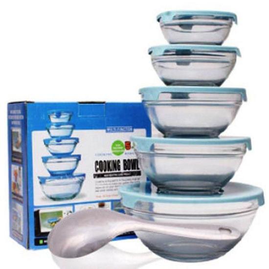 Bộ 5 bát thủy tinh Cooking Bowl