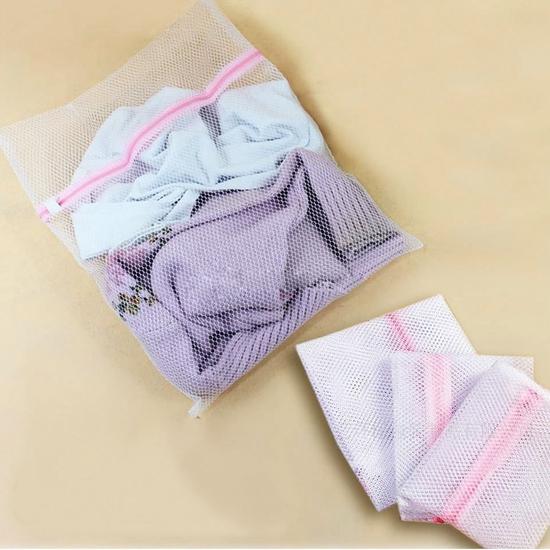 5 túi lưới giặt đồ 30cm x 40cm - Tiện lợi, dễ dùng