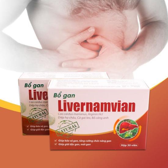 TPBVSK Bổ gan Livernamvian (2 hộp, 30 viên/hộp)