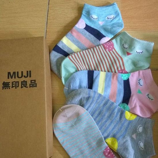 Hộp 5 đôi tất Muji cho bé từ 6 - 15 tuổi