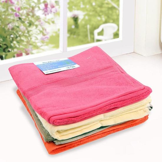 2 khăn tắm sợi tre tự nhiên siêu mềm 50x100cm