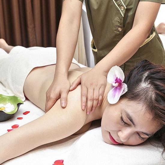 Massage body thải độc ruột tặng chăm sóc da mặt