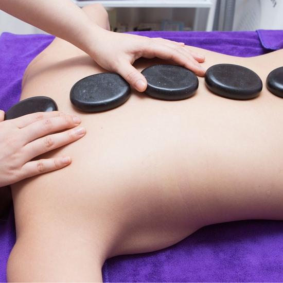 Massage Body Đá nóng, trị liệu đau nhức cổ vai gáy 75 phút