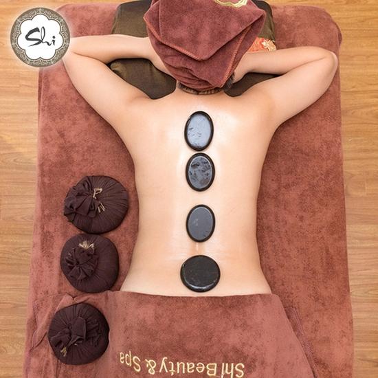Massage body đá nóng, ủ Parafin tại Shi Beauty&Spa