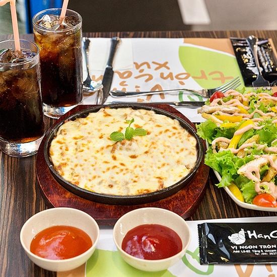 Set Gà nướng phô mai + Salad + Pepsi chuẩn vị Hàn