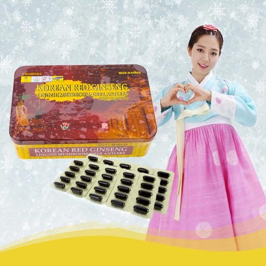 Viên sâm nhung linh chi Hàn Quốc bồi bổ sức khỏe