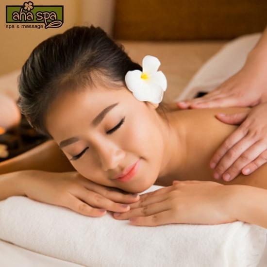 Trọn gói masage body + chăm sóc da 90 phút AHA SPa