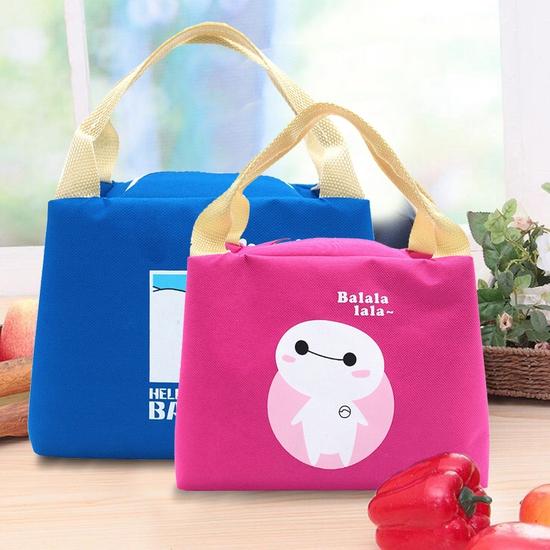 Combo 2 túi giữ nhiệt đựng đồ ăn kích thước to+ bé