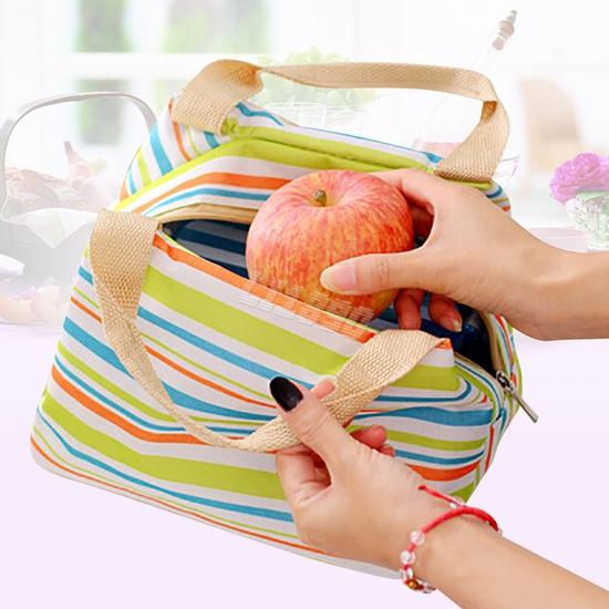 Túi giữ nhiệt đựng thức ăn họa tiết kẻ trẻ trung