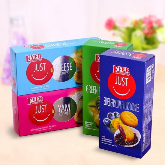4 hộp bánh quy Just Malaysia nhiều vị 150g