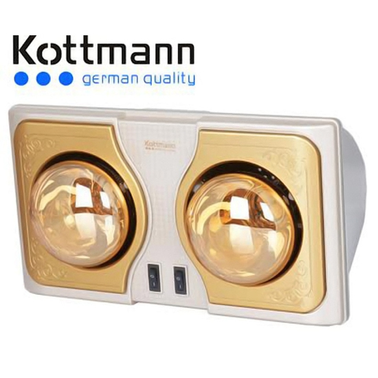 Đèn sưởi nhà tắm Kottman 2 bóng vàng