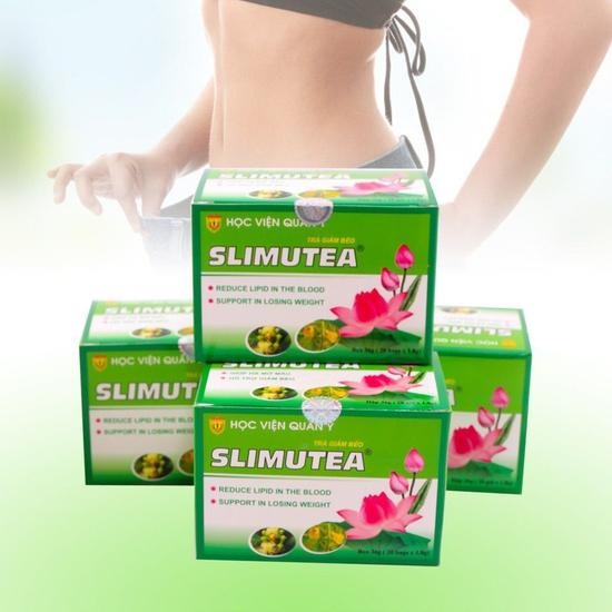 4 hộp trà giảm cân Slimutea - Học Viện Quân Y