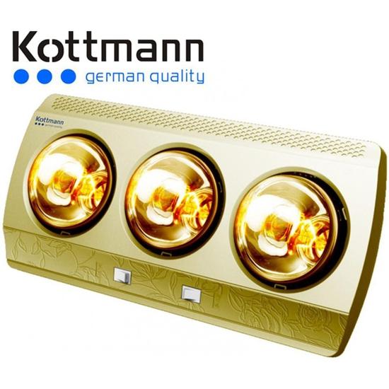 Đèn sưởi nhà tắm Kottmann 3 bóng dòng vàng