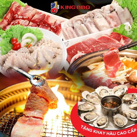 [Tặng Hàu] King BBQ: Buffet Nướng Lẩu Thả Ga 279K