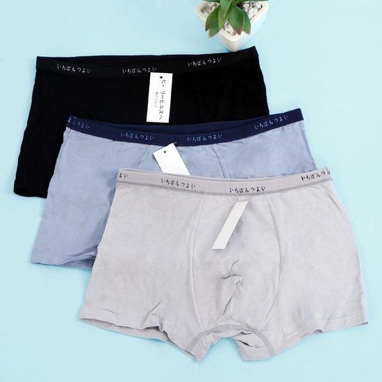 3 quần sịp đùi cotton thoáng mát