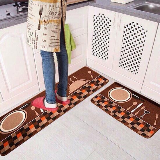 Bộ thảm lau chân nhà bếp cỡ to