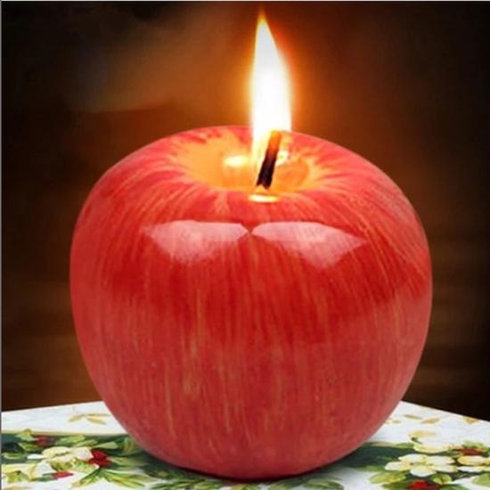 3 quả nến hình táo