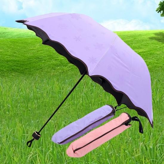 Ô gặp nắng nở hoa và chống tia UV - loại cán inox