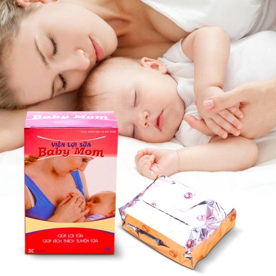 Viên lợi sữa Baby Mom (30 viên/hộp) - hàng VN