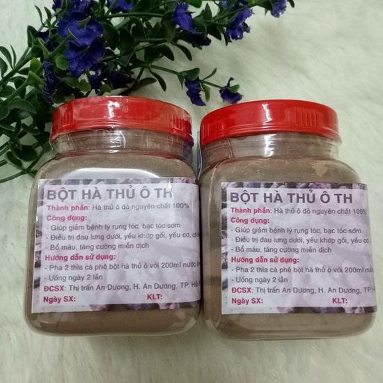 2 hộp bột hà thủ ô đỏ (100g/1 hộp)