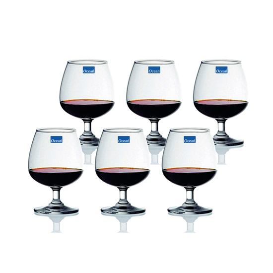 Bộ 6 ly rượu bầu thủy tinh Ocean