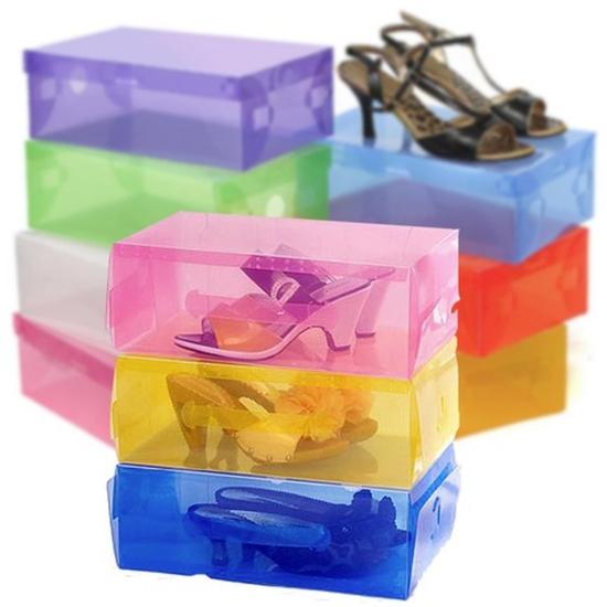 Bảo vệ giày dép với 5 hộp đựng giầy trong suốt