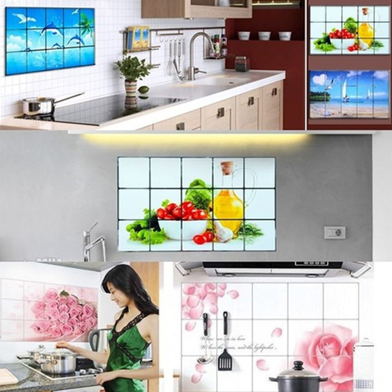 7 giấy dán bếp cách nhiệt họa tiết đa dạng