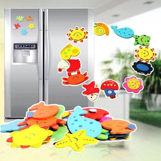 24 miếng dán tủ lạnh sinh vật biển ngộ nghĩnh