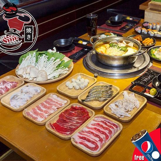 Buffet Lẩu Tại NH Mr. Yaki - Tặng Đồ Uống - Menu Mới
