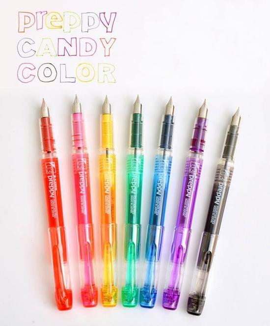 Combo 2 bút máy Nhật Bản Preppy và 4 ống mực