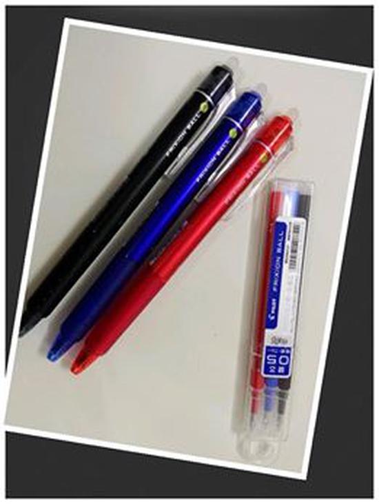 Set 3 bút bi xóa được Frixion và mực