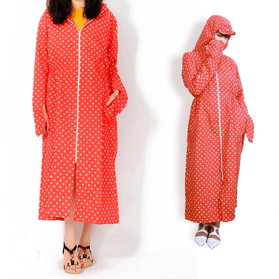 Áo chống nắng toàn thân 2 lớp vải thô