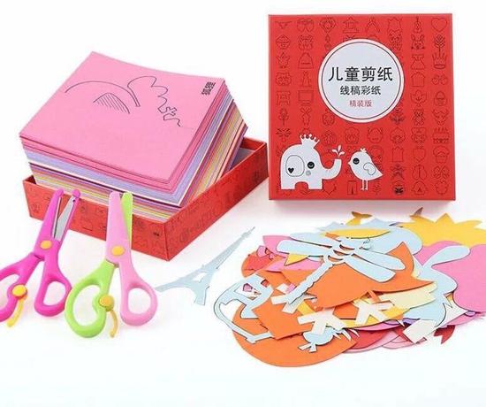 Bộ thủ công cho bé: 240 giấy màu và 2 kéo