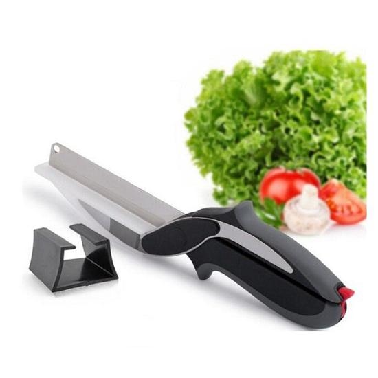 Kéo cắt đa năng kiêm dao thớt tiện lợi 2 in 1